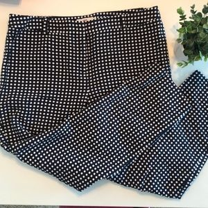 Vineyard Vines | Sz 10 | Navy Polka Dot Pants